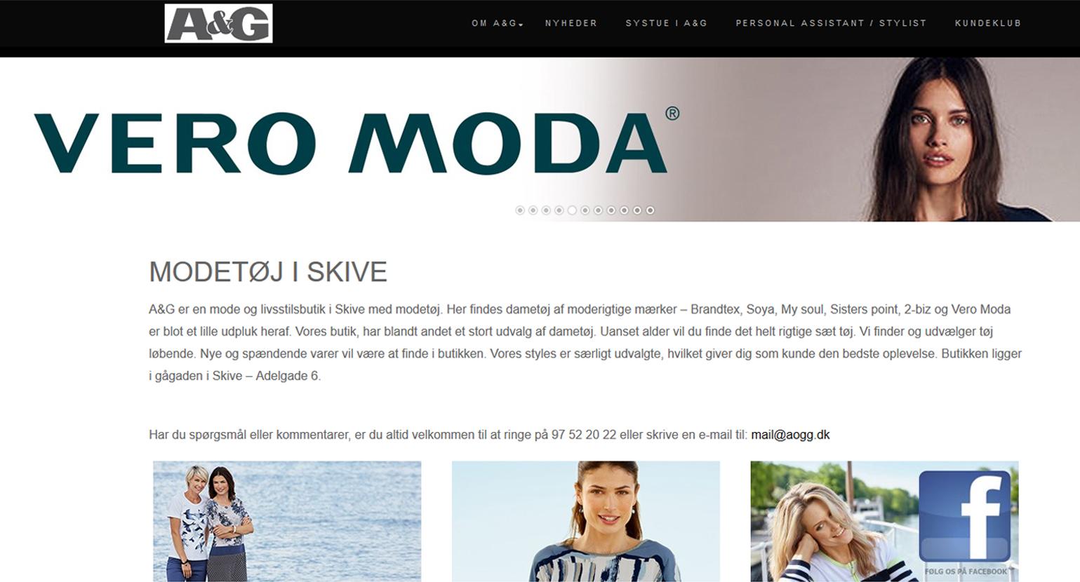 Hjemmeside til A&G i Skive